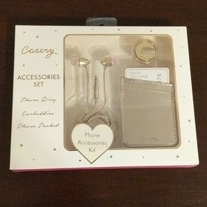 Casery Rose Gold Phone Accessory Kit
